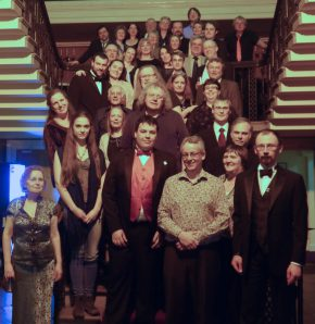 Tolkien Society members with John Garth at the 2014 Annual Dinner