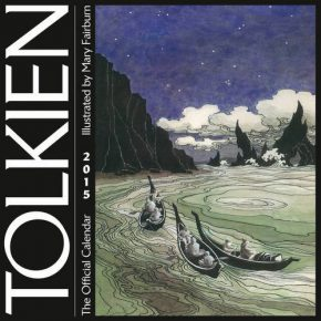 Cover of the Tolkien Calendar 2015 with artwork by Mary Fairburn