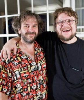 Sir Peter Jackson (left) with Guillermo del Toro (right)