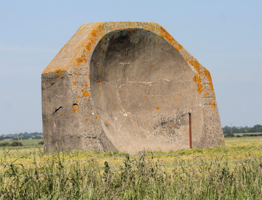 Acoustic Sound Mirror, erected just prior to Tolkien's arrival in Holderness.