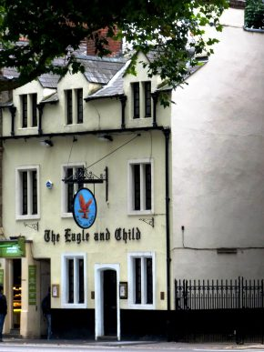 The Eagle and Child, Oxford. (c) 2013 Lyn Wilshire. A popular meeting place of the Inklings.