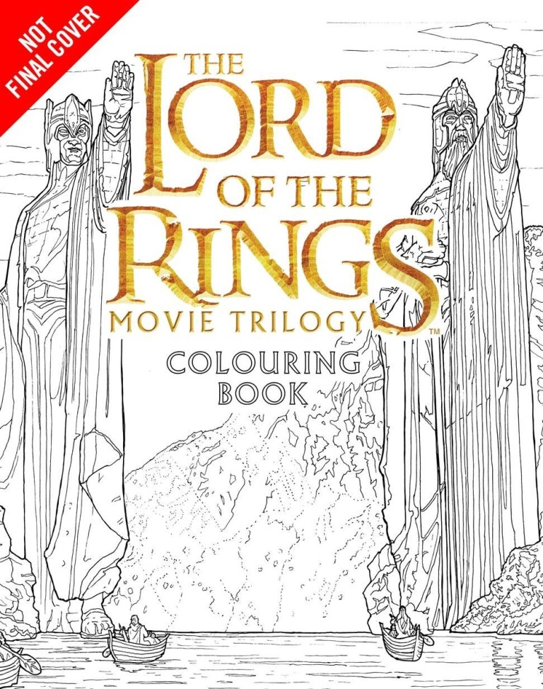 lotr coloring pages - new publication lotr movie trilogy colouring book the