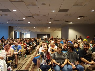 At DragonCon 2016 fans for Middle-earth and Westeros waited for the start of an epic panel. Michael took this picture from the stage.