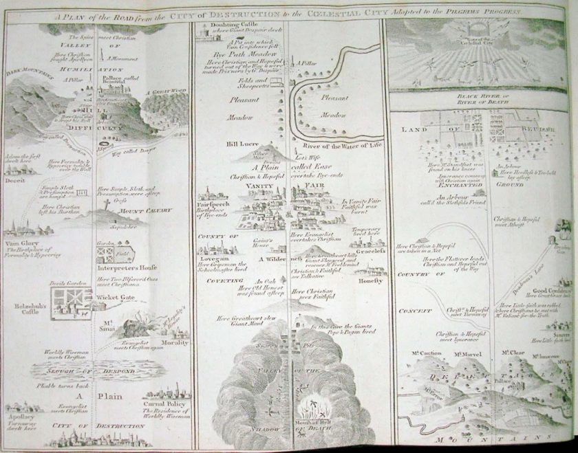 Detailed view of Pilgrim Progress map