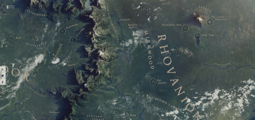 Screenshot Middle-earth google earth