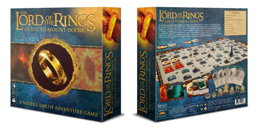 Front and cover box art of <em>Quest for Mount Doom</em>