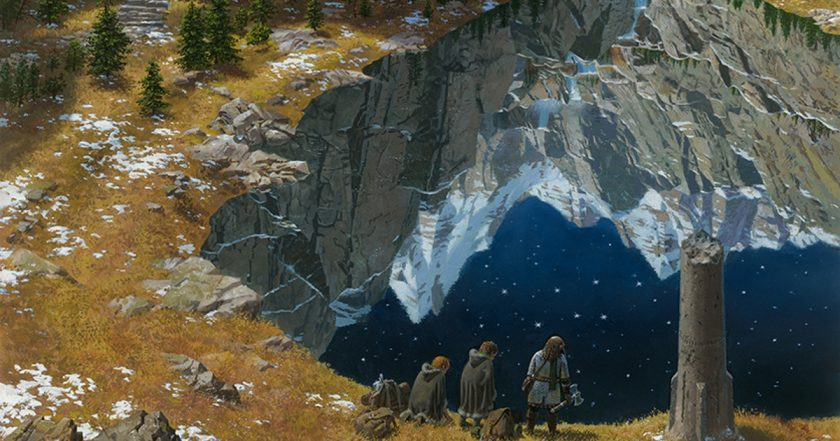 """Durin's Crown and the Mirrormere"" by Ted Nasmith"