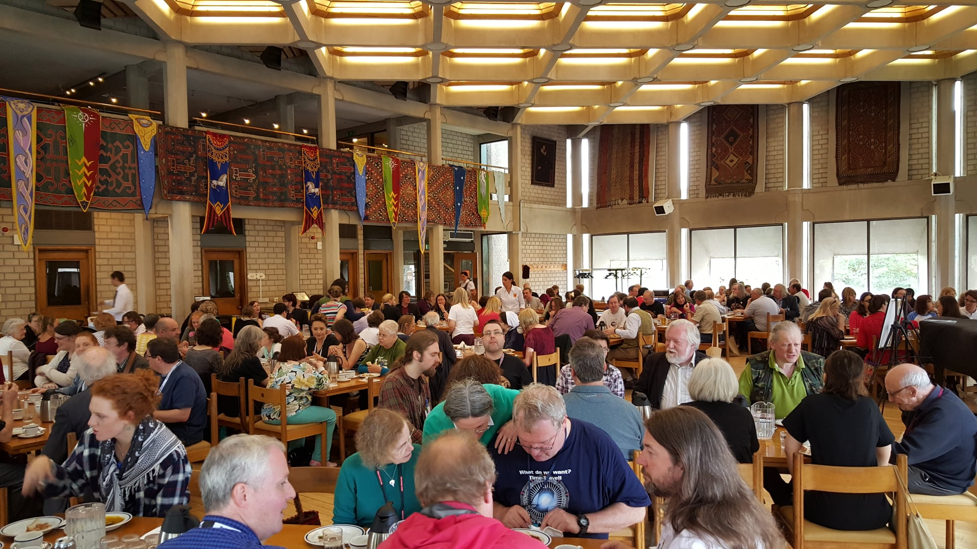 Oxonmoot delegates enjoying Saturday lunch at Oxonmoot 2015
